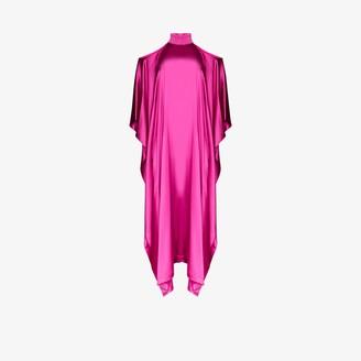 Taller Marmo La Divina Cold Shoulder Silk Dress