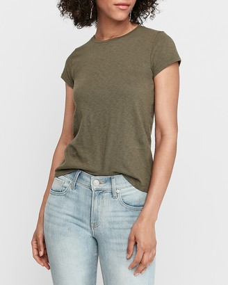 Express Slub Crew Neck Slim Tee