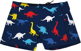 MC2 Saint Barth Multicolor Dinosaurs Boys Lycra Swim Briefs