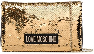 Love Moschino Bi-Colour Sequin Evening Bag
