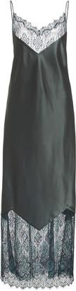 Marina Moscone Satin Chantilly Lace Dress