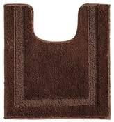 InterDesign Microfiber Polyester Contour Bathroom Rug – Chocolate Spa