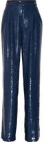 Sonia Rykiel Sequined Crepe Wide-leg Pants - Storm blue