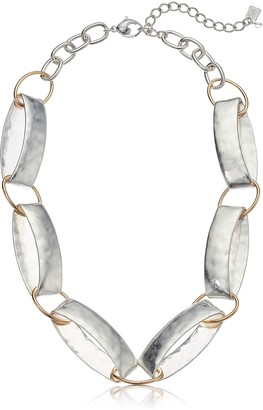 Robert Lee Morris Women's Silver Link Collar Strand Necklace One Size