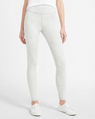 Express High Waisted Silver & Ivory Reversible Leggings