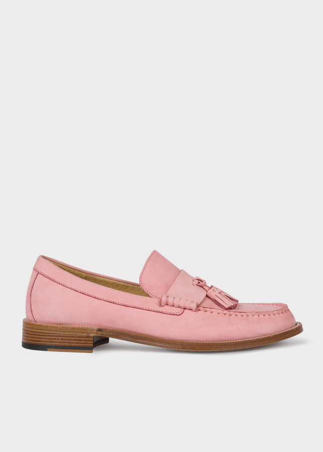 Paul Smith Men's Pink Nubuck 'Lewin' Loafers