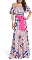 Eliza J Petite Women's Off The Shoulder Maxi Dress