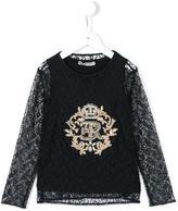 Ermanno Scervino embroidered lace top
