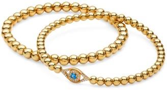 Adriana Orsini 2-Piece 18K Yellow Goldplated Sterling Silver Evil Eye Beaded Bracelets