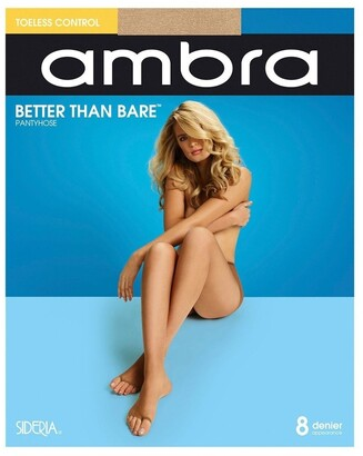 Ambra Better Than Bare Toeless Control Pantyhose Beige