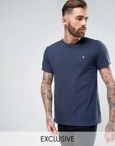 Jack Wills Elvaston Pique T-Shirt in Navy