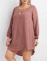 Charlotte Russe Plus Size Lattice Shift Dress