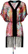 Matthew Williamson Rainbow Akita Animal Silk Fringed Kaftan