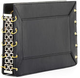 BCBGMAXAZRIA Geneva Chain Gusset Leather Clutch