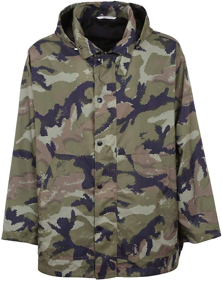 95ed1cc3c0f Camo Print Hooded Jacket