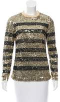 Beau Souci Sequined Silk Top w/ Tags
