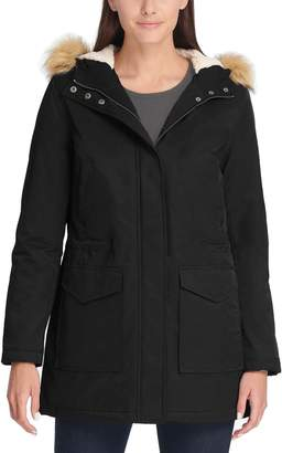 Levi's Levis Women's Hooded Faux-Fur Trim Fishtail Parka Jacket