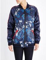 The Upside Cherry blossom shell bomber jacket