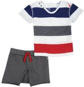 Splendid Baby Boy Slub Stripe Tee Set