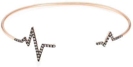Diane Kordas Heartbeat 18kt Rose Gold Bracelet with White Diamonds