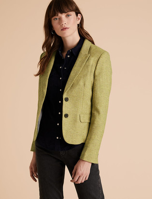 Marks and Spencer Wool Herringbone Hacking Jacket