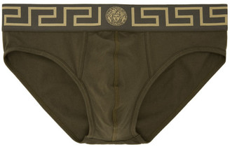 Versace Underwear Green Medusa Briefs