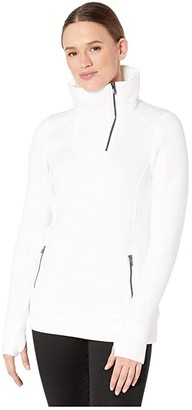Spyder Monde Zip T-Neck (White) Women's Coat