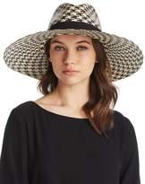 Marzi Houndstooth Wide Brim Panama Hat