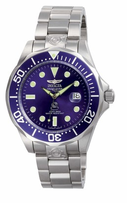 Invicta 3045 Pro Diver Men's Wrist Watch Stainless Steel Automatic Blue Dial
