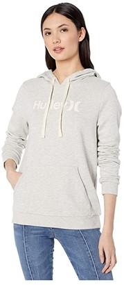 Hurley One and Only Fleece Pullover (Grey Heather) Women's Clothing