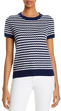 Bloomingdale's C by Cashmere Striped Sweater - 100% Exclusive