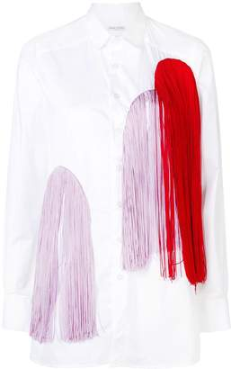 Each X Other colourful fringe embellished shirt