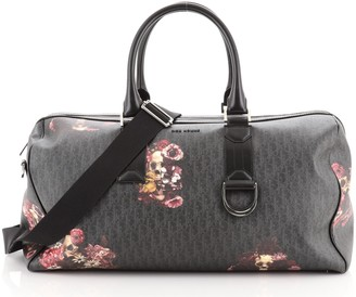 Christian Dior Convertible Homme Duffle Bag Printed Oblique Coated Canvas Large