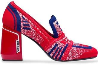 Prada Knit fabric loafers