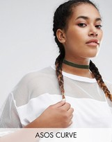 Asos Basic Velvet Choker Necklace