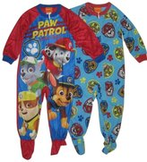 Nickelodeon Paw Patrol Rubble, Marshall, Chase & Rocky Toddler Boy 2-pk. Footed Pajamas