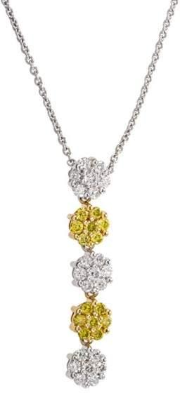 Charriol 18K Yellow & White Gold & Diamond Floral Pendant Necklace