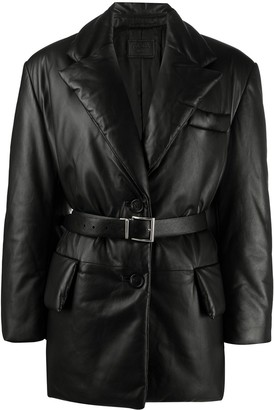Prada Padded Waist-Belt Jacket