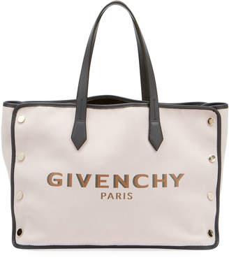 Givenchy Medium Bond Canvas & Leather Tote Bag
