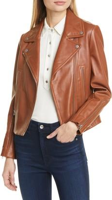 Rag & Bone Mack Lambskin Leather Jacket