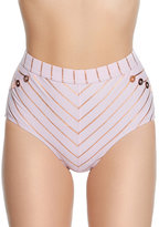 Betsey Johnson Shimmer Stripes High Waist Bottom