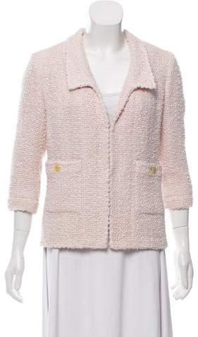 Chanel Tweed Open-Front Jacket