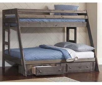 Harriet Bee Setser Twin Over Full Bunk Bed with Under Bed Storage and Stairway Chest Harriet Bee