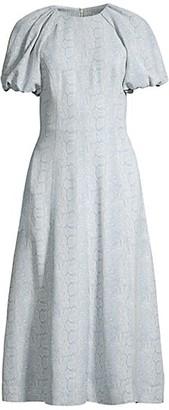 Rebecca Vallance Dondra Fit & Flare Tonal Print Dress