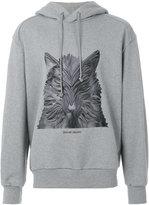 Juun.J wolf print hoodie