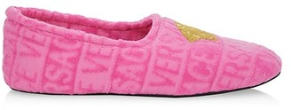 Versace Embroidered Medusa Slippers