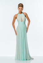 Terani Couture Jewel Embellished High Neck Gown 151P0044B