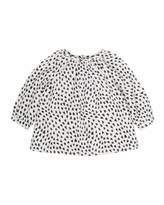 Bonpoint Heart-Print Blouse, Size 6 Months-2T