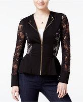 XOXO Juniors' Lace Peplum Jacket