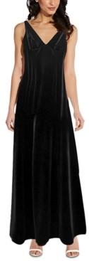 Adrianna Papell Velvet Sleeveless Gown